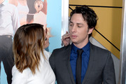 "Actress Ashley Greene (L) and director and actor Zach Braff attend the ""Wish I Was Here"" screening at AMC Lincoln Square Theater on July 14, 2014 in New York City."