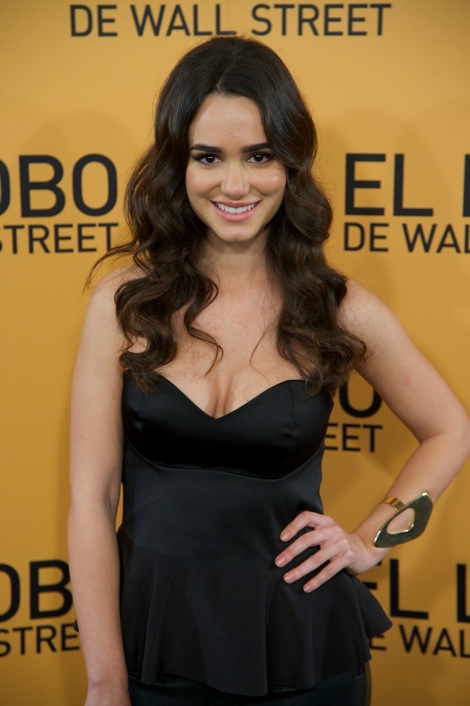 Spanish actress Alicia Sanz attends the 'The Wolf of Wall Street' (El Lobo de Wall Street) premiere at the Palafox cinema on January 15, 2014 in Madrid, Spain.