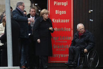 Wolfgang Schaeuble Germany Commemorates 2016 Christmas Market Terror Attack