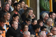 Robert Plant from Led Zeppelin is seen in the crowds during the Premier League match between Wolverhampton Wanderers and Manchester City at Molineux on August 25, 2018 in Wolverhampton, United Kingdom.