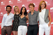 "Michele Venitucci, Jess Weixler, Giada Dafoe, Willem Dafoe and Stefania Rocca attend ""A Woman"" photocall during the 67th Venice Film Festival at the Palazzo del Casino on September 4, 2010 in Venice, Italy."