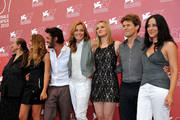 "(3L-R) Michael Venitucci, Stefania Rocca, Jess Weixler, Willem Dafoe and Giada Dafoe attend ""A Woman"" photocall during the 67th Venice Film Festival at the Palazzo del Casino on September 4, 2010 in Venice, Italy."