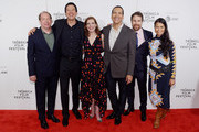 "Bill Camp, Chaske Spencer, Susanna White, Michael Greyeyes and Rulan Tangen attends the Screening of ""Woman Walks Ahead"" - 2018 Tribeca Film Festival at BMCC Tribeca PAC on April 25, 2018 in New York City."