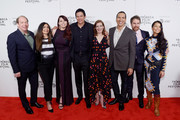 "Bill Camp, Chaske Spencer, Erika Olde, Susanna White, Michael Greyeyes and Rulan Tangen attends the Screening of ""Woman Walks Ahead"" - 2018 Tribeca Film Festival at BMCC Tribeca PAC on April 25, 2018 in New York City."