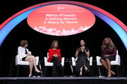 (L-R) PBWC Board President and Board Chair Alexandra Roddy, U.S. Rep. Jackie Speier (D-CA) Actress and activist Ashley Judd and Co-Founder of We Said Enough Adama Iwu participate in a panel discussion during the 29th annual Conference of the Professional Businesswomen of California (PBWC) on April 24, 2018 in San Francisco, California. The PBWC is a day of keynote speakers and seminars by top female leaders and panels of industry experts.