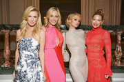 (L-R) Nicky Hilton Rothschild, WCRF co-founder Jamie Tisch, Paris Hilton, and WCRF co-founder Quinn Ezralow pose for portrait at The Women's Cancer Research Fund's An Unforgettable Evening 2020 at Beverly Wilshire, A Four Seasons Hotel on February 27, 2020 in Beverly Hills, California.