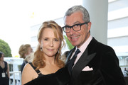 Actress Lea Thompson, wearing Max Mara, (L) and Giorgio Guidotta, President of World Wide Communications at Max Mara attends the Women In Film 2017 Crystal + Lucy Awards presented By Max Mara and BMW at The Beverly Hilton Hotel on June 13, 2017 in Beverly Hills, California.