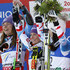 Anna Fenninger Tessa Worley Photos - (FRANCE OUT) Tessa Worley of France wins the gold medal, Tina Maze of Slovenia wins the silver medal, Anna Fenninger of Austria wins the bronze medal during the Audi FIS Alpine Ski World Championships Women's Giant slalom on February 14, 2013 in Schladming, Austria. - Women's Giant Slalom - Alpine FIS Ski World Championships