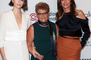 (L-R) Kaia Gerber, Jennifer Maki and Cindy Crawford attend the Women's Guild Cedars-Sinai annual luncheon at the Regent Beverly Wilshire Hotel on November 06, 2019 in Beverly Hills, California.