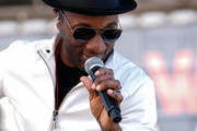 Singer Aloe Blacc performs at the Women's March California 2019 on January 19, 2019 in Los Angeles, California. Demonstrations are slated to take place in cities across the country in the third annual event aimed to highlight social change and celebrate women's rights around the world.