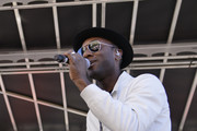 Musician Aloe Blacc performs during the 2019 Women's March Los Angeles on January 19, 2019 in Los Angeles, California.