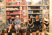"(L-R) Racquet magazine co-founder and event moderator Caitlin Thompson, professional WTA players Bethanie Mattek-Sands, Vania King and Danielle Collins, and president of the Women's Tennis Association Micky Lawler speak during a WTA panel discussion, ""Women in Tennis Taking Action: A Conversation on Women in Sports"" at The Wing, Dumbo on August 21, 2019 in New York City."