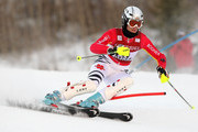 Susanne Riesch of Germany skis her second run enroute to a fourth place finish in the Women's FIS Alpine World Cup Slalom on November 29, 2009 in Aspen, Colorado.