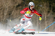Susanne Riesch #11 of Germany competes in the first run of the Slalom during the Audi FIS Ski World Cup on November 29, 2009 in Aspen, Colorado.