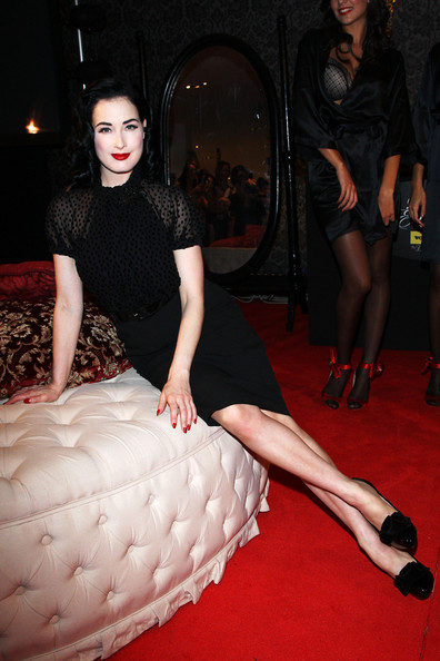 Dita Von Teese attends the Wonderbra by Dita Von Teese Party Edition launch at the La Rinascente Piazza Duomo as part of Milan Womenswear Fashion Week Spring/Summer 2010 at on September 26, 2009 in Milan, Italy.