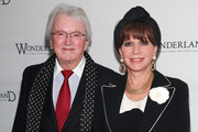 """(L-R) Leslie Bricusse and Evie Bricusse attend the Broadway opening night of """"Wonderland - Alice Through A Whole New Looking Glass"""" at the Marriott Marquis Theater on April 17, 2011 in New York City."""
