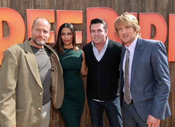 "Premiere Of Relativity Media's ""Free Birds"" - Red Carpet [free birds,event,suit,formal wear,management,white-collar worker,red carpet,woody harrelson,camila alves mcconaughey,owen wilson,tucker tooley,l-r,relativity media,premiere,premiere]"