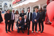 Directors Bahman Ghobadi, Hideo Nakata, Guillermo Arriaga,Mira Nair,Hector Babenco,Amos Gitai,Alex de la Iglesia,Warwick Thornton with Director of the Venice Film Festival Alberto Barbera attend the 'Words With Gods' premiere during the 71st Venice Film Festival on August 30, 2014 in Venice, Italy.
