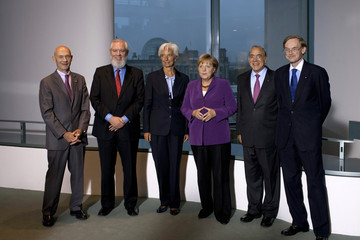 Pascal Lamy World Finance Leaders Meet In Berlin