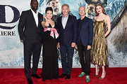 """Omar Sy, Cara Gee, Harrison Ford, Director Chris Sanders and Karen Gillan arrive at the World Premiere of 20th Century Studios' """"The Call of the Wild"""" at the El Capitan Theatre on February 13, 2020 in Hollywood, California. The film releases on Friday, February 21, 2020."""