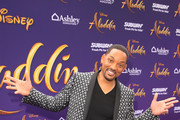 "Will Smith attends the World Premiere of Disney?s ""Aladdin"" at the El Capitan Theater in Hollywood CA on May 21, 2019, in the culmination of the film?s Magic Carpet World Tour with stops in Paris, London, Berlin, Tokyo, Mexico City and Amman, Jordan."