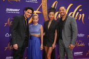 """(L-R) Trey Smith, Jada Pinkett Smith, Willow Smith and Will Smith attend the World Premiere of Disney?s """"Aladdin"""" at the El Capitan Theater in Hollywood CA on May 21, 2019, in the culmination of the film?s Magic Carpet World Tour with stops in Paris, London, Berlin, Tokyo, Mexico City and Amman, Jordan."""