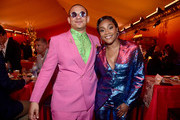 """Eric Andre (L) and Tiffany Haddish attend the World Premiere of Disney's """"THE LION KING"""" at the Dolby Theatre on July 09, 2019 in Hollywood, California."""