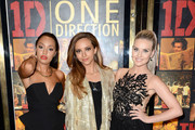 "(L to R) Leigh-Anne Pinnock, Jade Thirlwall and Perrie Edwards of Little Mix attend the ""One Direction This Is Us"" world premiere at the Empire Leicester Square on August 20, 2013 in London, England."