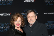 """(L-R) Marilou York and Mark Hamill arrive for the World Premiere of """"Star Wars: The Rise of Skywalker"""", the highly anticipated conclusion of the Skywalker saga on December 16, 2019 in Hollywood, California."""