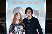 "From the cast, actress Christina Hendricks poses with Geoffrey Arend on arrival for the world premiere of the film ""Fist Fight"" in Los Angeles, California on February 13, 2017. / AFP / Frederic J. Brown"