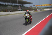 Tom Sykes of Great Britain and KAWASAKI RACING TEAM WorldSBK heads down a straight during the WorldSBK Riviera di Rimini - Free Practice on July 6, 2018 in Misano Adriatico, Italy.