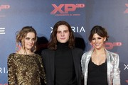 "(L-R) Actress Alba Ribas, actor Oscar Sinela and actress Ursula Corbero attend ""XP3D"" premiere at the Callao cinema on December 27, 2011 in Madrid, Spain."