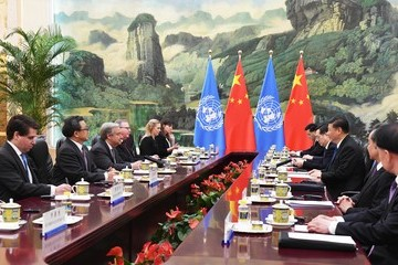 Xi Jinping Secretary-General Of The United Nations Antonio Guterres Visits China