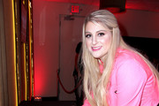 Singer/songwriter Meghan Trainor poses  at Y100's Jingle Ball Village, Y100's Jingle Ball 2014 official pre-show at BB&T Center on December 21, 2014 in Miami, FL.