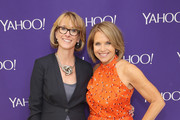 (L-R) SVP, Marketing Partnerships at Yahoo Lisa Licht and Journalist Katie Couric attend the 2015 Yahoo Digital Content NewFronts at Avery Fisher Hall on April 27, 2015 in New York City.