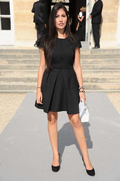 yasmine besson photos christian dior front row paris fashion week spring summer 2012 18. Black Bedroom Furniture Sets. Home Design Ideas