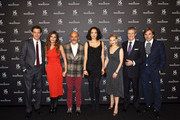 (L-R) Clive Owen, Elisa Sednaoui, Christian Louboutin, Carmen Chaplin, Sarah Gadon, Daniel Riedo, Jaeger-LeCoultre CEO and Hubertus Hohenlohe attend the party in tribute to the Reverso hosted by Jaeger-LeCoultre as part of the SIHH on January 18, 2016 in Geneva, Switzerland.