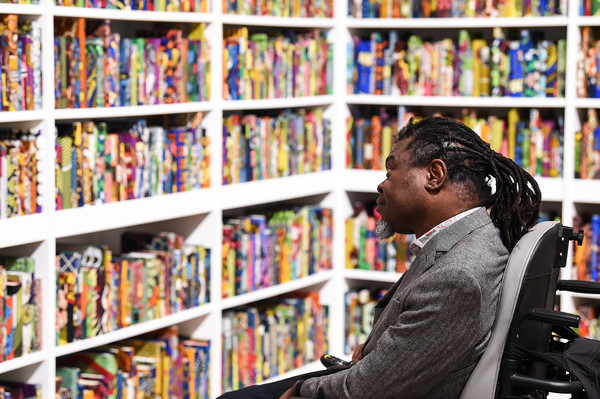 Yinka Shonibare Installation 'The British Library' At Tate Modern