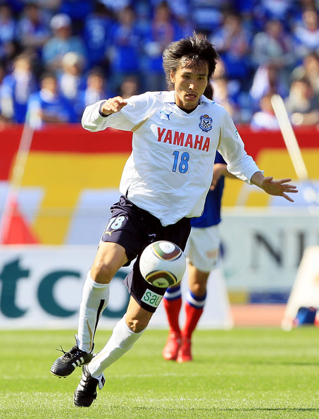 Ryoichi Maeda Ryoichi Maeda of Jubilo Iwata in action during the J. League match between Yokohama F. Marinos and Jubilo Iwata at Nissan Stadium on May 1, 2010 in Yokohama, Japan.