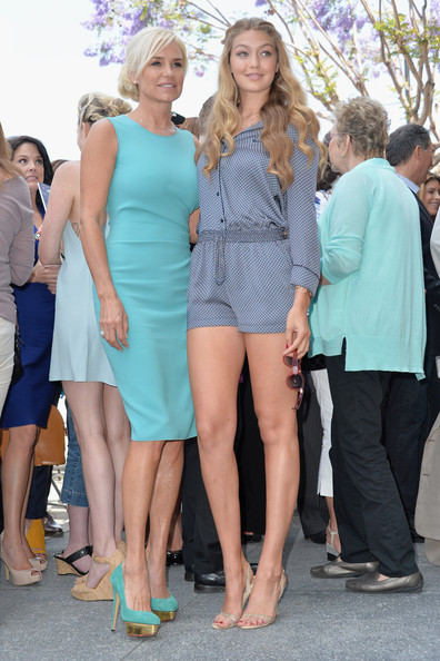 Yolanda Hadid Foster - David Foster Honored on the Walk of Fame ...