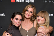 """(L-R) Sarah Desjardins, Missi Pyle and Maddie Hasson as YouTube Originals hosts a special screening of """"Impulse"""" Season 2 from the director of The Bourne Identity on October 15, 2019 in West Hollywood, California."""