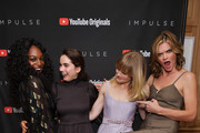 """(L-R) Enuka Okuma, Sarah Desjardins, Missi Pyle and Maddie Hasson as YouTube Originals hosts a special screening of """"Impulse"""" Season 2 from the director of The Bourne Identity on October 15, 2019 in West Hollywood, California."""