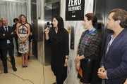 Marina Abramovic speaks at the YoungArts and MoMa PS1 reception celebrating Zero Tolerance: Miami on December 5, 2014 in Miami, Florida.