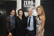 Adriana Cisneros, artist Marina Abramovic, Director of MoMa PS1 Klaus Biesenbach, and Sarah Arison attend the YoungArts and MoMa PS1 reception celebrating Zero Tolerance: Miami on December 5, 2014 in Miami, Florida.