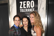Adriana Cisneros, artist Marina Abramovic, and Sarah Arison attend the YoungArts and MoMa PS1 reception celebrating Zero Tolerance: Miami on December 5, 2014 in Miami, Florida.