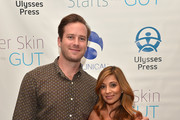 "Armie Hammer and author Dr. Nigma Talib attend the ""Younger Skin Starts In The Gut"" book launch party at Four Seasons Hotel Los Angeles at Beverly Hills on March 22, 2016 in Los Angeles, California."