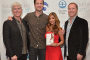 "(L-R) President and CEO iS CLINICAL Bryan Johns, Armie Hammer,  author Dr. Nigma Talib and Vice President and COO iS CLINICAL Alec R. Call attend the ""Younger Skin Starts In The Gut"" book launch party at Four Seasons Hotel Los Angeles at Beverly Hills on March 22, 2016 in Los Angeles, California."