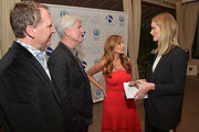 "(L-R) Vice President and COO iS CLINICAL Alec R. Call, President and CEO iS CLINICAL Bryan Johns, author Dr. Nigma Talib and Rosie Huntington-Whiteley attend the ""Younger Skin Starts In The Gut"" book launch party at Four Seasons Hotel Los Angeles at Beverly Hills on March 22, 2016 in Los Angeles, California."