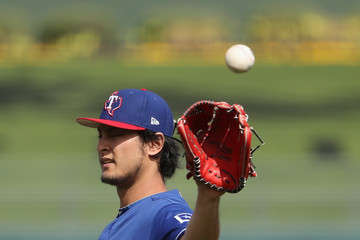 Yu Darvish Texas Rangers v Kansas City Royals
