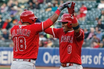 Yunel Escobar Los Angeles Angels of Anaheim v Oakland Athletics